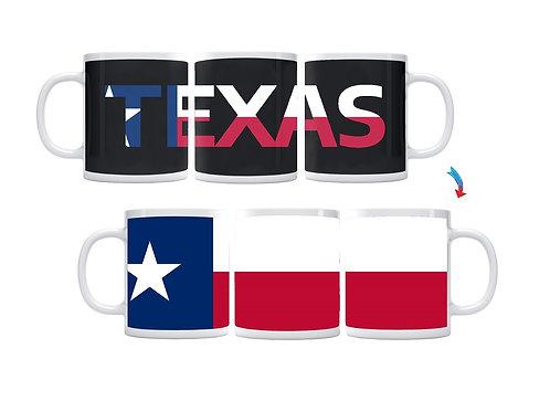 Texas Flag ThermoH Exray Coffee Mug