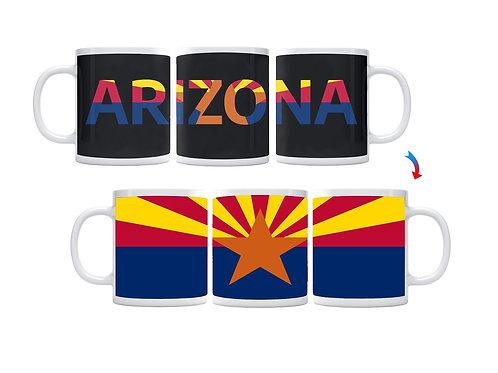 Arizona Flag ThermoH Exray Coffee Mug