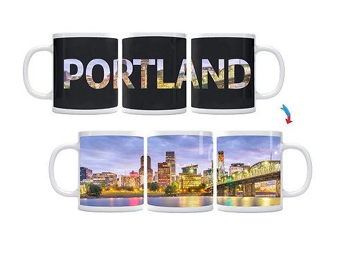Portland Skyline ThermoH Exray Coffee Mug