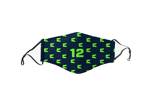Kids Navy & Green 12 Team Mask