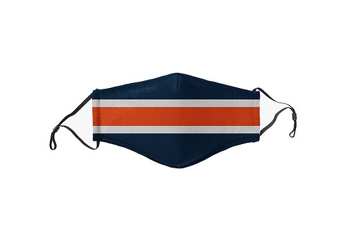 Blue & Orange Stripes Team Mask