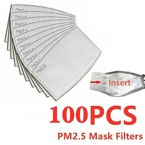 100 PCS PM2.5 Filters for Kids Face Masks