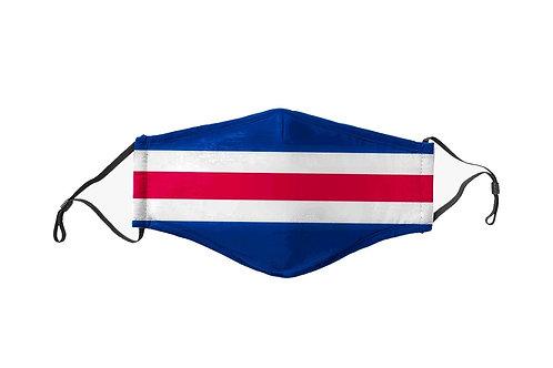 Red & Blue Stripes Team Mask
