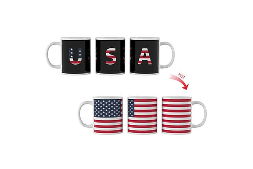 USA Flag ThermoH Exray Coffee Mug