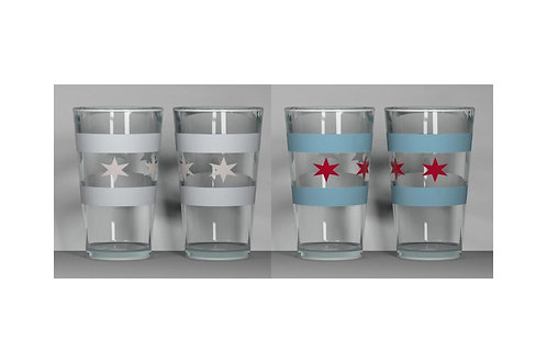 Chicago Flag ThermoC Logo Pint Glass
