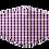 Thumbnail: Purple & Gold Pattern Face Mask