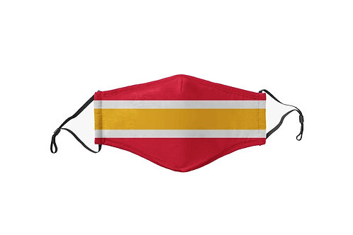 Red & Yellow Stripes Team Mask