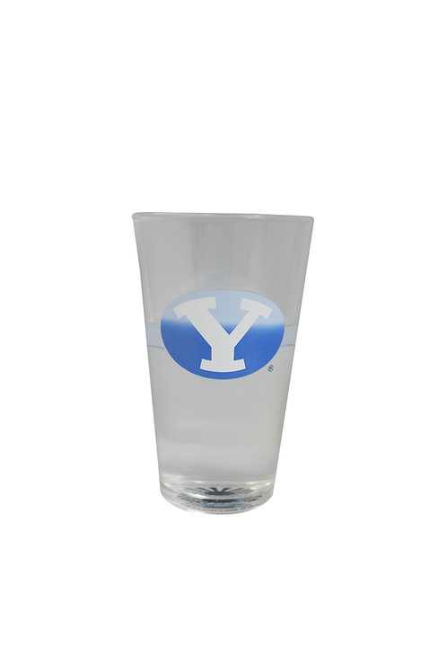 byu brigham young university cougars logo beer cold color changing pint glass