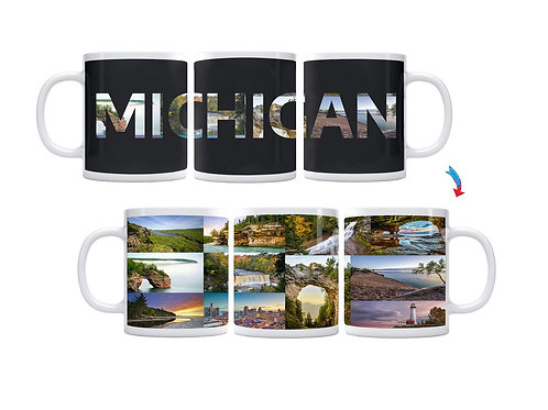 State of Michigan ThermoH Exray Mug