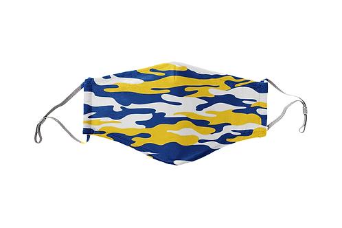 Blue & Yellow Gold Camo Team Mask