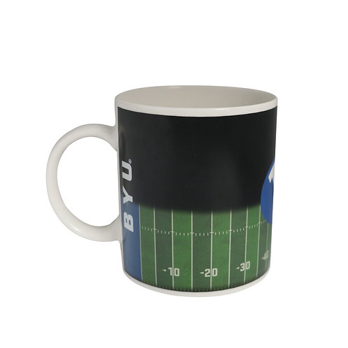 BYU field brigham young cougars color changing coffee mug heat sensitive hot