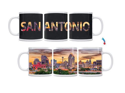 San Antonio Skyline ThermoH Exray Coffee Mug