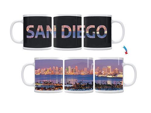 San Diego Skyline ThermoH Exray Coffee Mug
