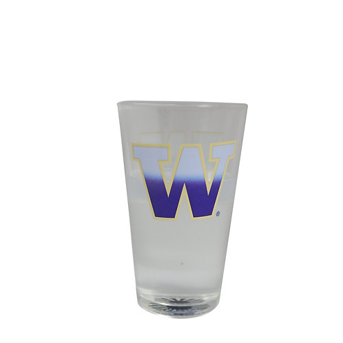 university of washington huskies logo color beer changing pint glass cold sensitive