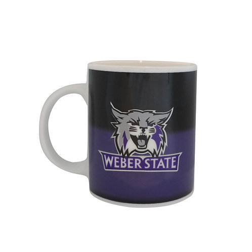 weber state university wildcats logo color changing coffee mug heat sensitive hot