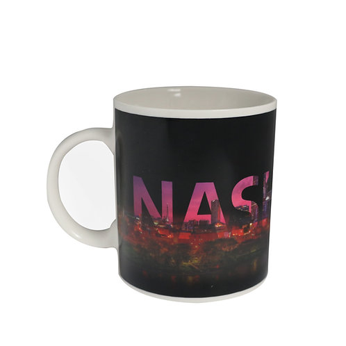 nashville tennessee skyline color changing coffee mug