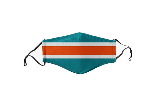 Teal & Orange Stripes Team Mask