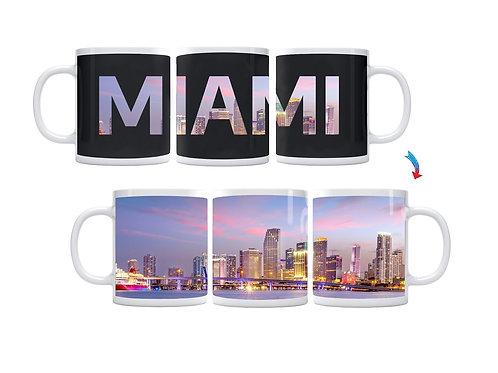 Miami Skyline ThermoH Exray Coffee Mug