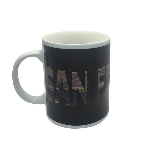 san francisco skyline golden gate bridge color changing coffee mug heat sensitive hot