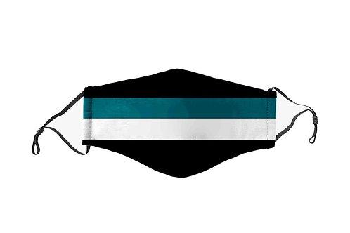 Green & White Stripes Team Mask