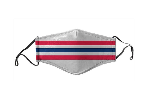 Blue & Red & Gray Stripes Team Mask