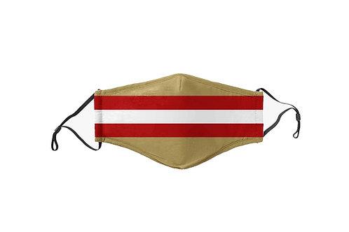 Red & Gold Stripes Team Mask
