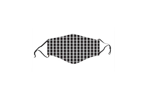 Black & Gray Gingham Mask