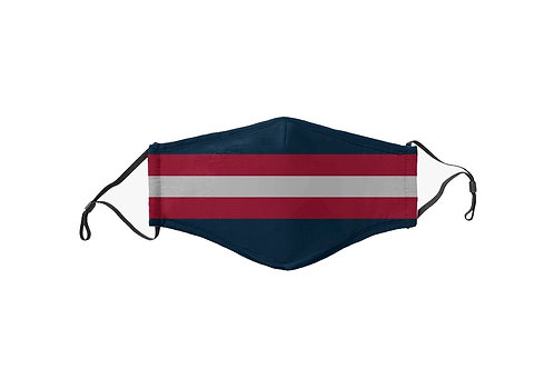 Navy & Red Stripes Team Mask