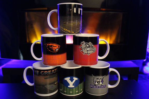 ncaa college collegiate color changing coffee mugs