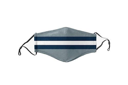 Gray & Blue Stripes Team Mask