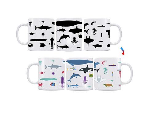 Ocean Animals ThermoH Logo Mug