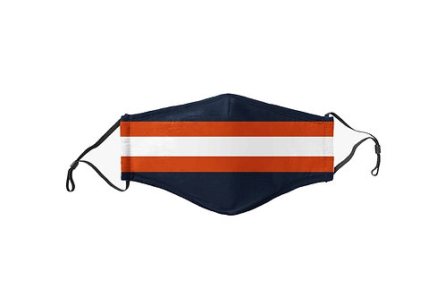Navy & Orange Stripes Team Mask