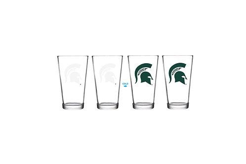 Michigan State ThermoC Logo Pint Glass
