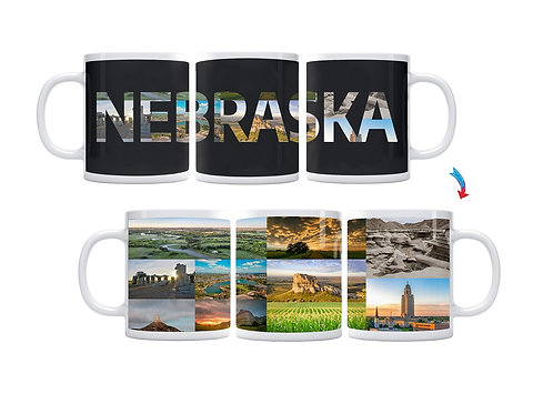 State of Nebraska ThermoH Exray Mug