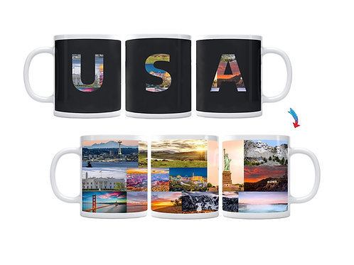 Country of USA ThermoH Exray Mug
