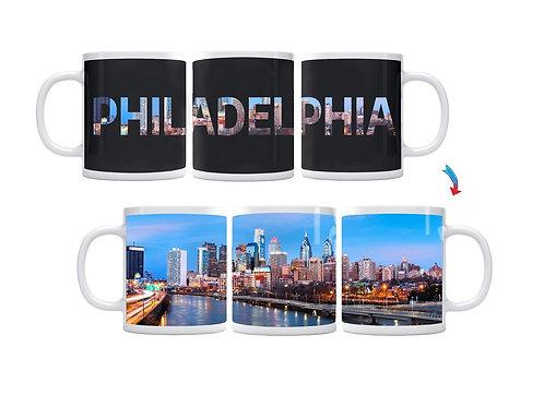 Philadelphia Skyline ThermoH Exray Coffee Mug