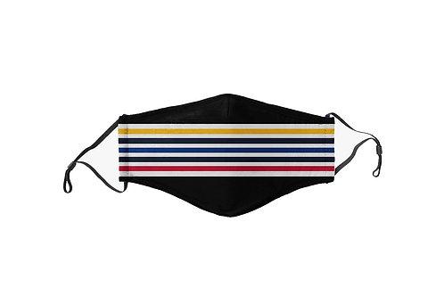 Black & Yellow & Red & Blue Stripes Team Mask
