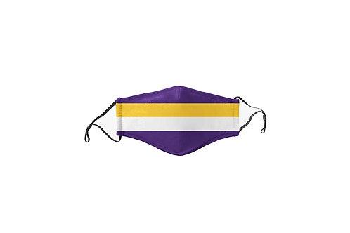 Kids Purple & Yellow Team Face Mask