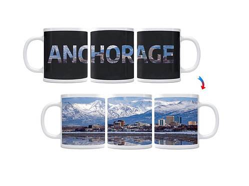Anchorage Skyline ThermoH Exray Coffee Mug
