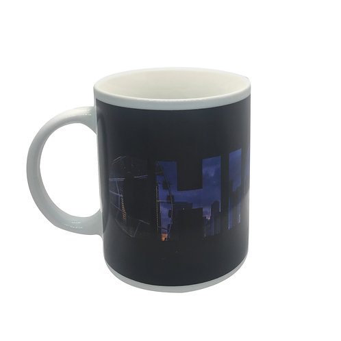 chicago skyline color changing coffee mug heat sensitive hot