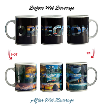 state of oegon color changing coffee mug heat sensitive