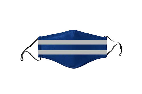 Blue & Gray Stripes Team Mask