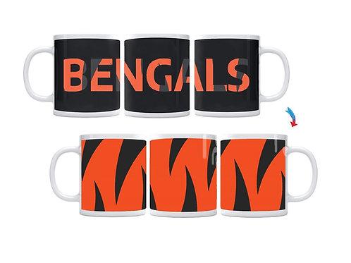 Black & Orange Bengal Stripes ThermoH Exray Mug