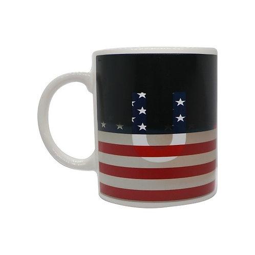 USA Flag ThermoH Exray Coffee Mug