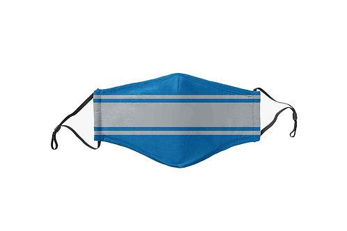 Light Blue & Gray Stripes Team Mask