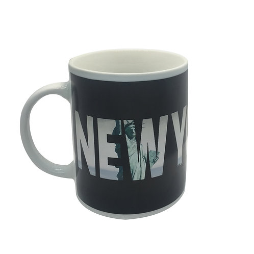 new york city skyline nyc statue of liberty color changing coffee mug heat sensitive hot