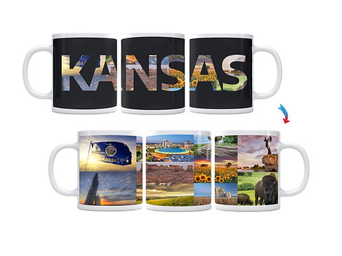 State of Kansas ThermoH Exray Mug