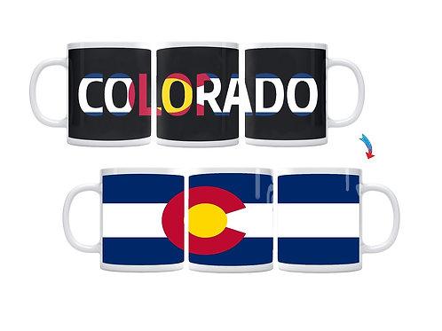 Colorado Flag ThermoH Exray Coffee Mug