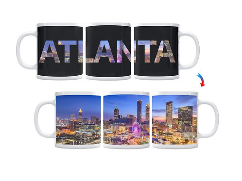 Atlanta Skyline ThermoH Exray Coffee Mug