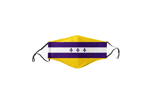 Purple & Gold NOLA Flag Face Mask